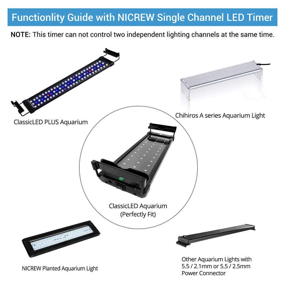 Nicrew LED Licht Dimmer Controller Sunrise Sunset Modulator Für Aquarium Aquarium Led Intelligente Licht Timing Dimmen System