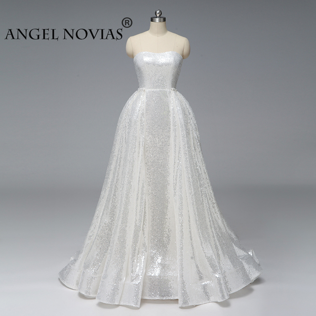 ANGEL-NOVIAS-Long-Silver-White-Abendklei