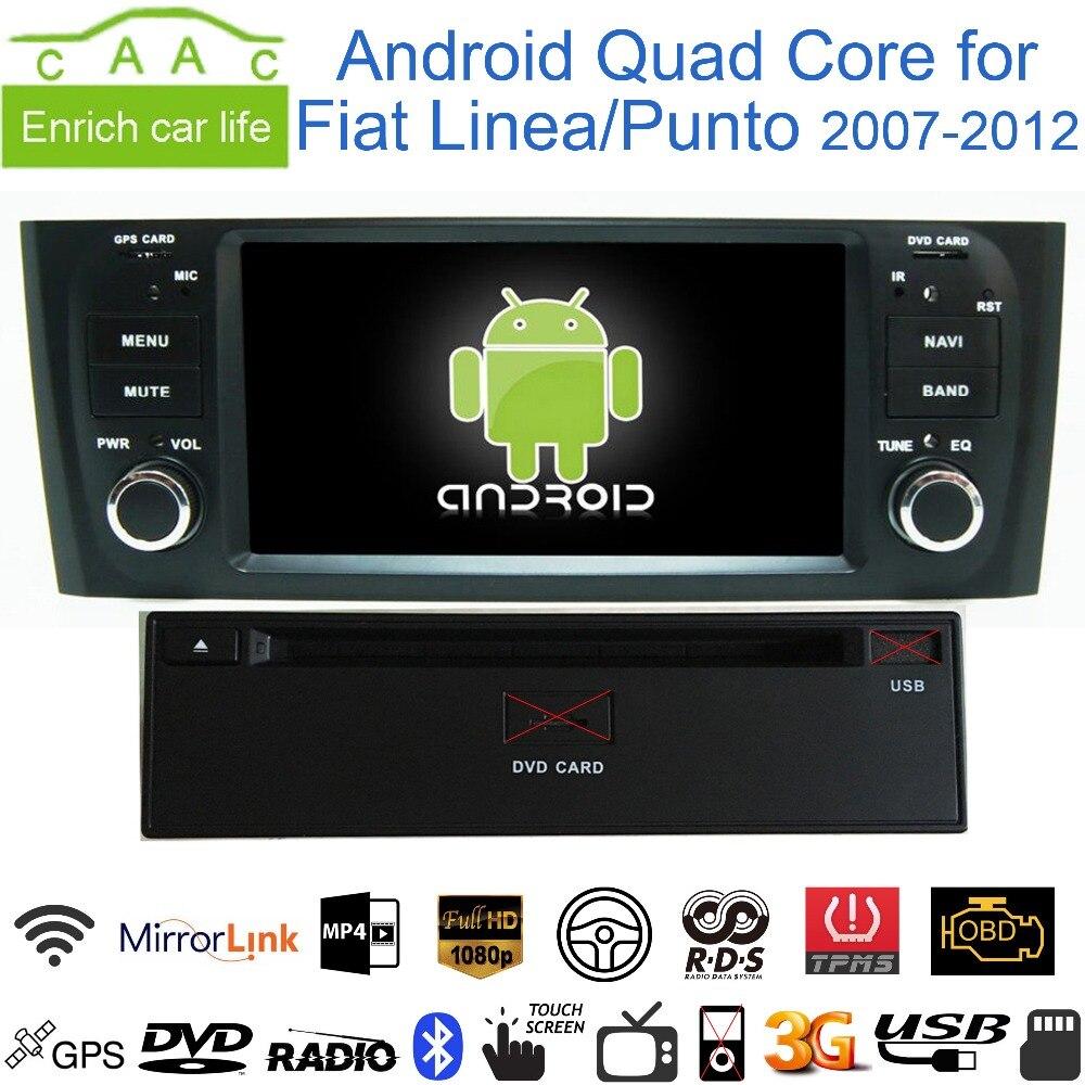 "imágenes para 6.0.1 Android Quad Core GPS Navi Stereo 6.1 ""Reproductor de DVD Del Coche para Fiat Linea/Punto 2007-12 con Radio/Bluetooth/RDS/CANBUS/WIFI/4G"