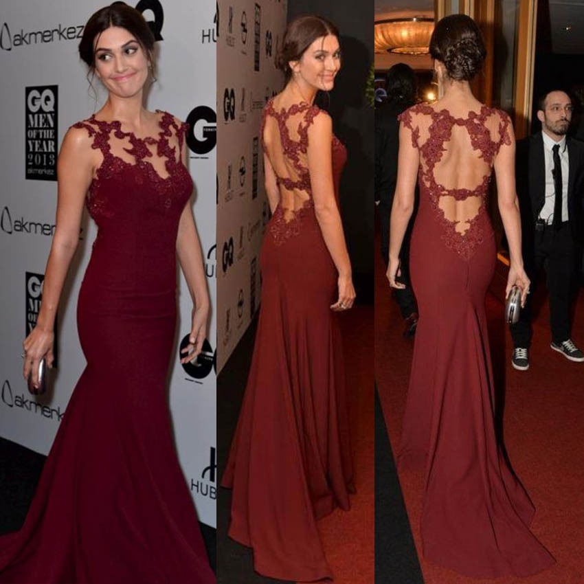 Aliexpress.com : Buy Red Carpet Mermaid Celebrity Dresses Elegant ...