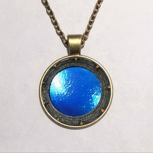 Steampunk UK Drama stargate portal Pendant Necklace doctor who 1pcs/lot chain mens new jewelry brass sivler womens