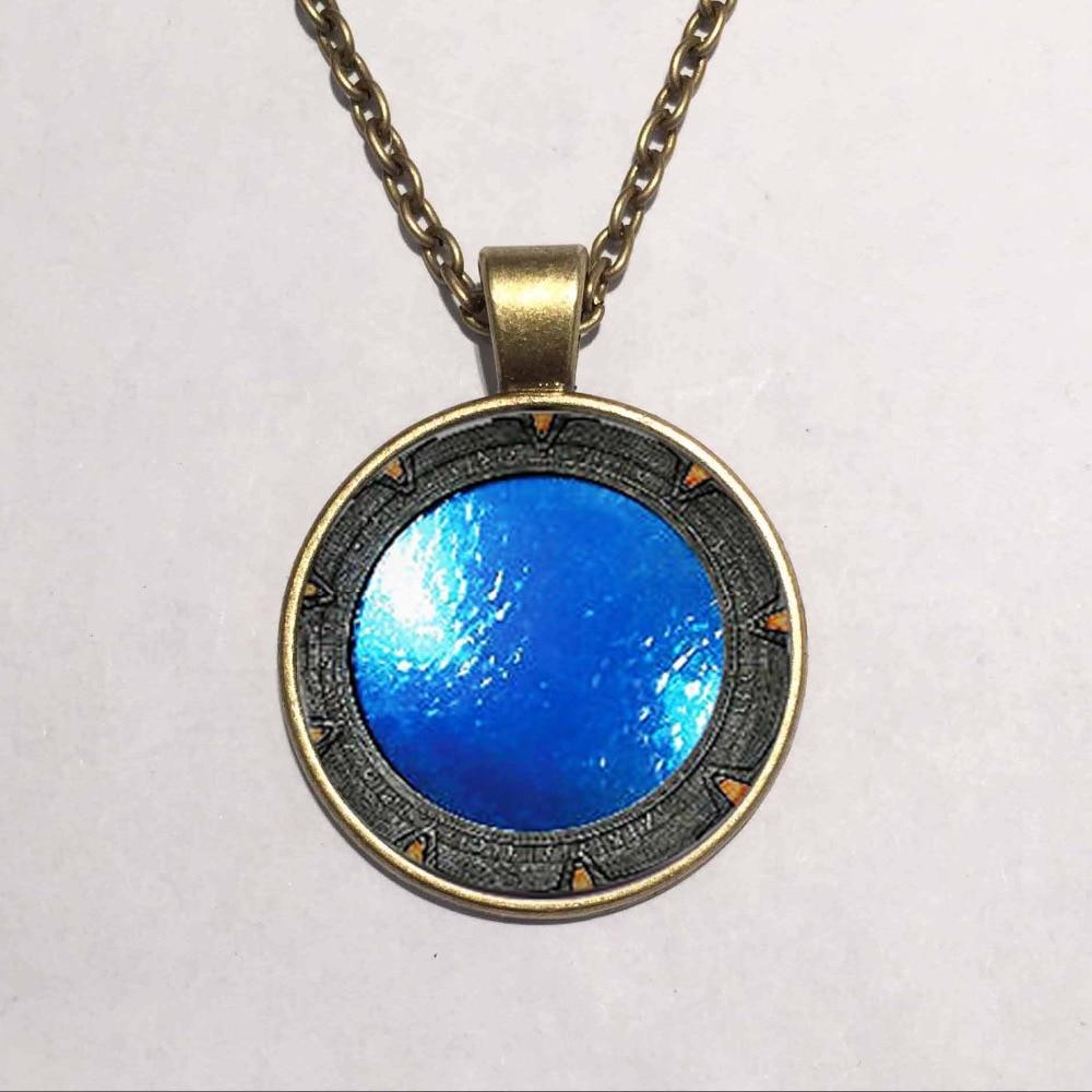 Steampunk UK Drama stargate portal Pendant Necklace doctor who 1pcs/lot chain mens new jewelry brass sivler womens