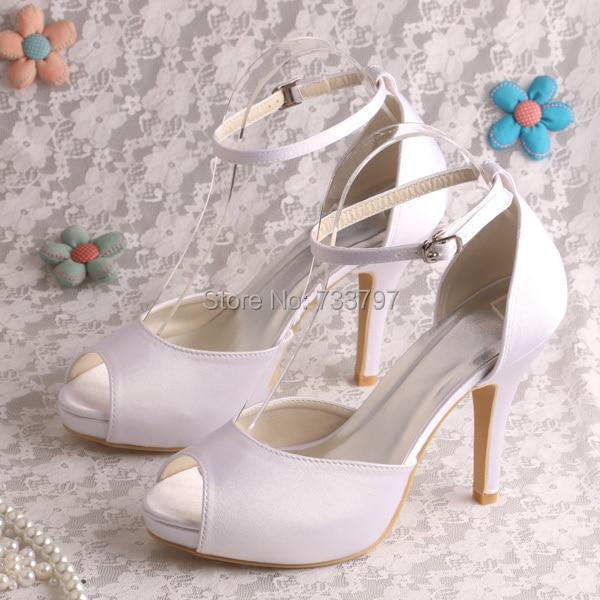 (20 Colors)Custom Handmade Designer High Heel Summer Sandals Wedding White Satin