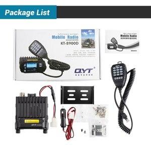 Image 4 - QYT KT 8900D راديو السيارة المحمول VHF UHF 25 واط 4 ستاندرد موبايل راديو هيئة التصنيع العسكري + USB كابل برجمة