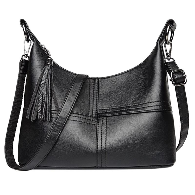 db1514684d8 Women PU Leather Shoulder Handbags Tassels Zipper Casual Hobo Messenger  Crossbody Tote Bags Features: The fashion version of the type:concise but  not simple ...