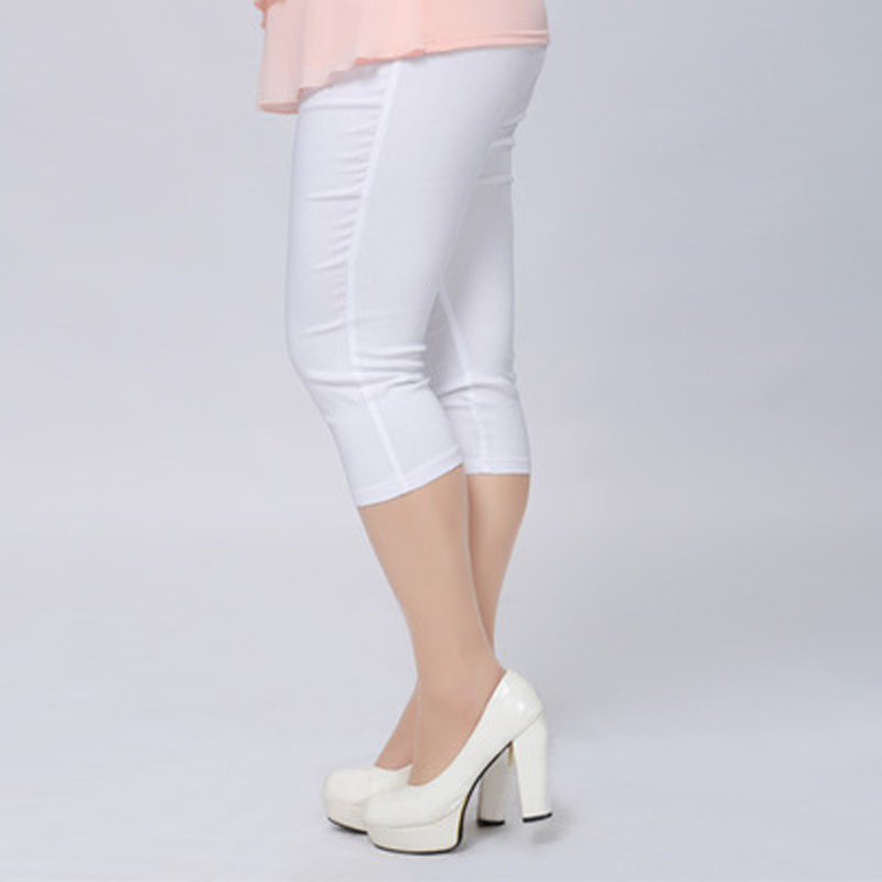 Buena calidad Extra Large Size Women Capris Pants Super Stretch - Ropa de mujer - foto 4