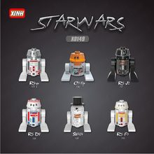 GSBAN Blocchi Star Wars Robot R2D2 BB8 K-2SO RSF7 SW424 RSD8 RSJ2 C110p R490 Star wars Figure Blocchi Giocattoli per bambini Star Wars(China)