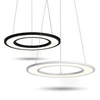 Круглые светодио дный светодиодные подвесные светильники DIY комбинированное офисное освещение трапезная Подвесная лампа Современное Дома