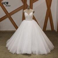Vestido De Noiva White Ball Gown Wedding Dress Chic Pearls Sweetheart Spaghetti Strap Sexy Bridal Gowns