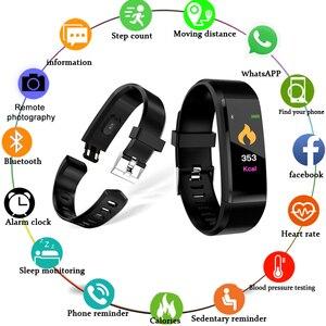 Image 2 - Nuovo 2019 Braccialetto Intelligente Bluetooth di Sport Wristband Heart Rate Monitor Guarda Attività Fitness Tracker Sonno Tracker PK Mi Fascia 4