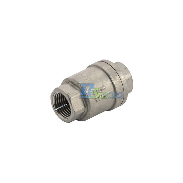 MEGAIRON BSPT 1/2 DN15 In-Line Spring Vertical Check Valve 1000 WOG Spring Loaded In-line Stainless Steel SS316 Control valve vertical type 1 2 pt female threaded brass tone in line check valve