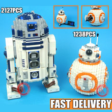 New StarWars bb8 R2d2 Technic Robot fit star wars figures Model kits Building Block bricks boy gift Toys for children kid new star wars figures droid robot model federation transportation tank mtt fit legoings building blocks bricks gift kid toy