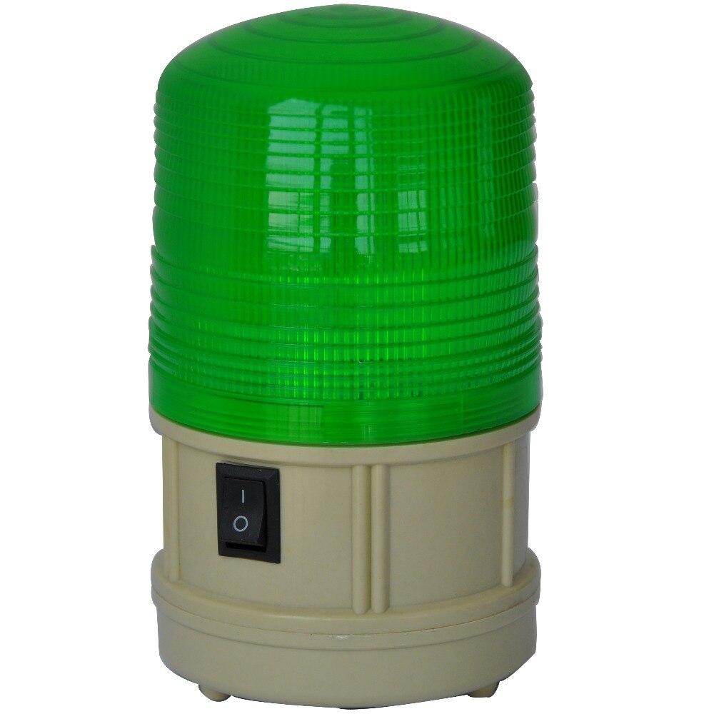 Купить с кэшбэком LTD-5088  Red Green Blue Yellow LED Warning Light Battery Flashing Strobe Alarm Lighting  With Magnet Base