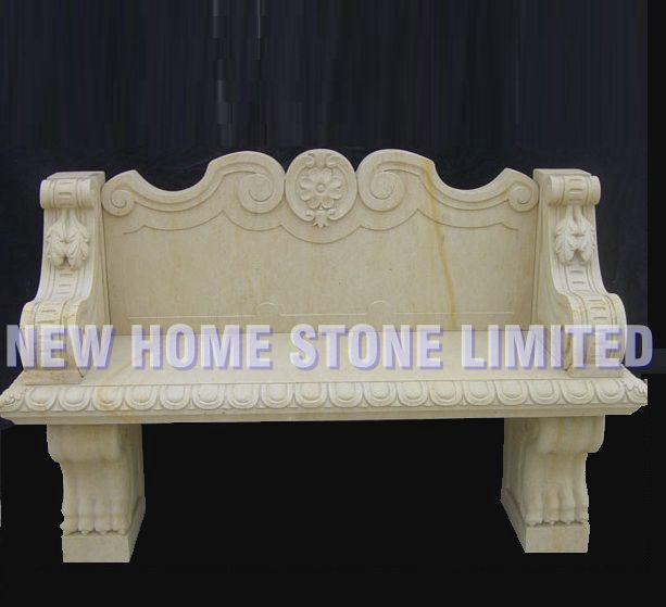 beige stone garden furniture sets marble chair patio ...
