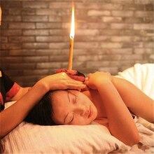 10 יח\חבילה אוזן נרות בריא טיפול אוזן טיפול אוזן שעוות הסרת מנקה אוזן Coning טיפול אינדיאנה טיפול ניחוח לקט את ביצי
