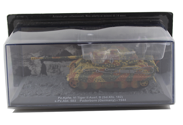 rare IXO 1/72 Germany Pz.Kpfw.VI Tiger Ausf.B II 1944 Heavy tank model Alloy collection model Holiday gift 472pcs set banbao princess series castle building blocks girl friends favorite scene simulation educational assemble toys