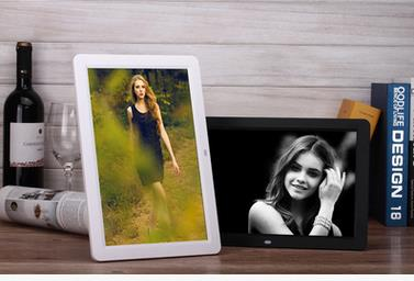 12 inch high-definition widescreen multi-function digital photo frame Electronic photo album Video advertising machine 2015 new 7 inch digital photo frame ultra thin hd photo album lcd advertising machine