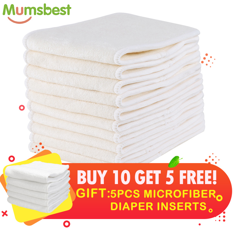 Mumsbest Get 5 Insert FREE Wholesale Infant Cloth Diapers Nappy Bamboo Inserts Baby Cloth Diaper