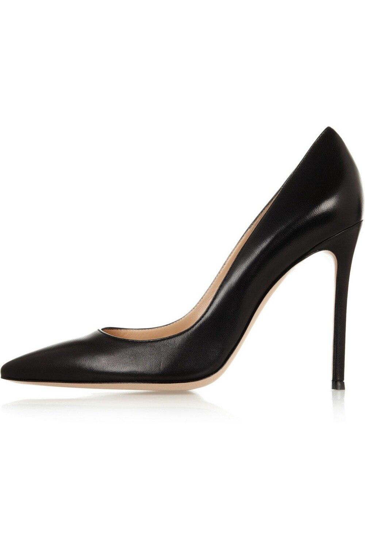 ФОТО Amourplato Women's Ladies Handmade Fashion 100mm Large Size Evening Office Classic High Heel Pumps Solid Shoes