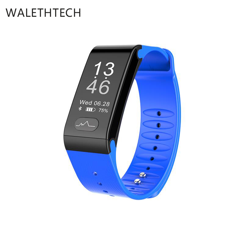 Bluetooth blood pressure heartrating monitor smart band clories sleep sports tracker smart wristband GPS records smart watch men