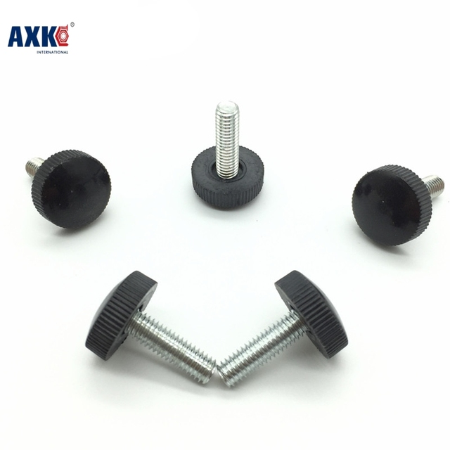 US $13 06 15% OFF|Axk 50pcs M3*6/8/10/12/16 Black Plastic Knurled Hand  Tighten Thumb Screw Drywall Promotion Sale Vis Tornillos Para Madera -in  Screws