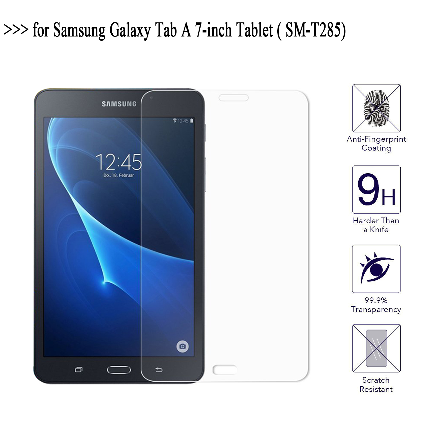For Samsung Galaxy Tab A 7.0 Screen Protector Glass 9H Tempered Glass For Samsung Galaxy Tab A SM-T285 Tablet Protective Film gpnacn 6d tempered glass for samsung galaxy s8 plus glass note 8 s9 screen protector film for samsung s9 plus full cover glass