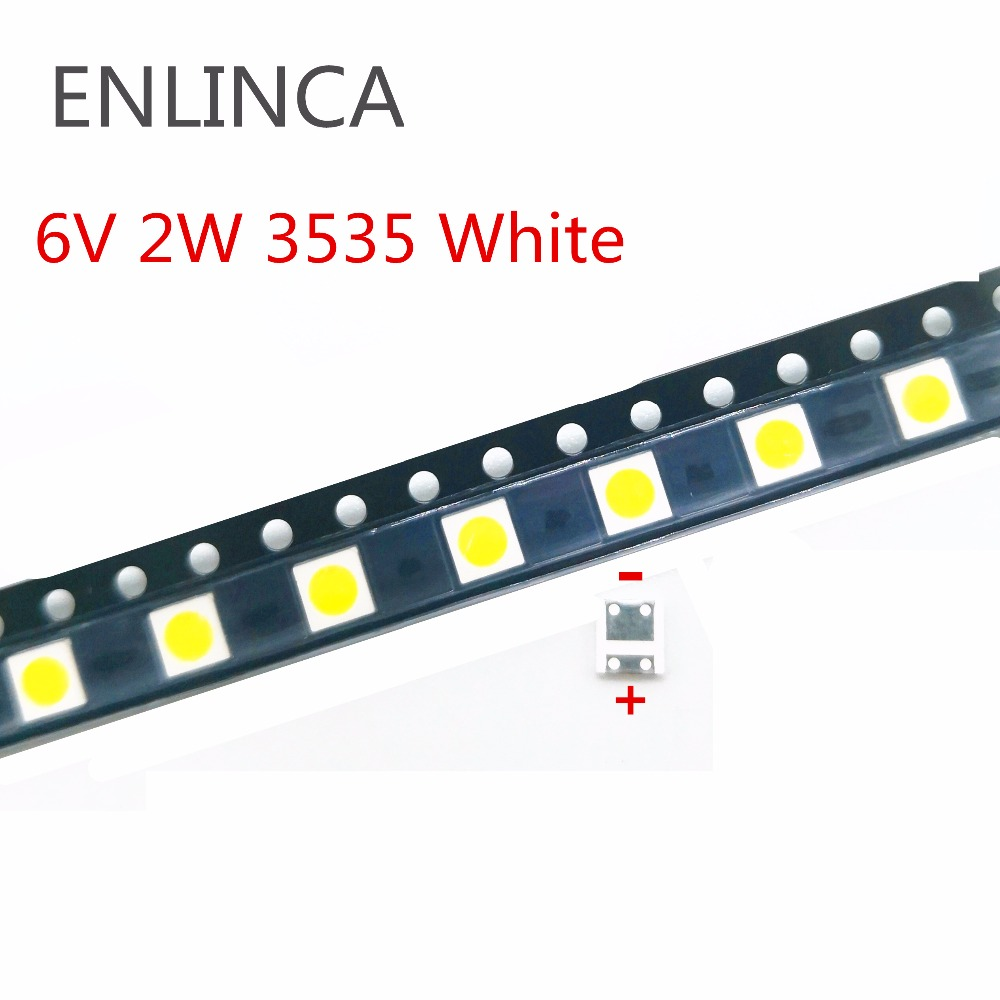 50PCS SMD LED 3535//3030 6V//2W Cold White CHIP-2 2W//1W For TV//LCD Backlight TV