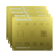 Plant Tin Mesh MECHANIC 3D Groove BGA Reballing Gold Stencil Multi-Function Steel Net For IPhone A9/A10/A11/A12 CHIP Template mechanic efix ip bga stencil of solder mask ink tool kit for fix repair iphone ipad nand flash power touch ic chip reballing