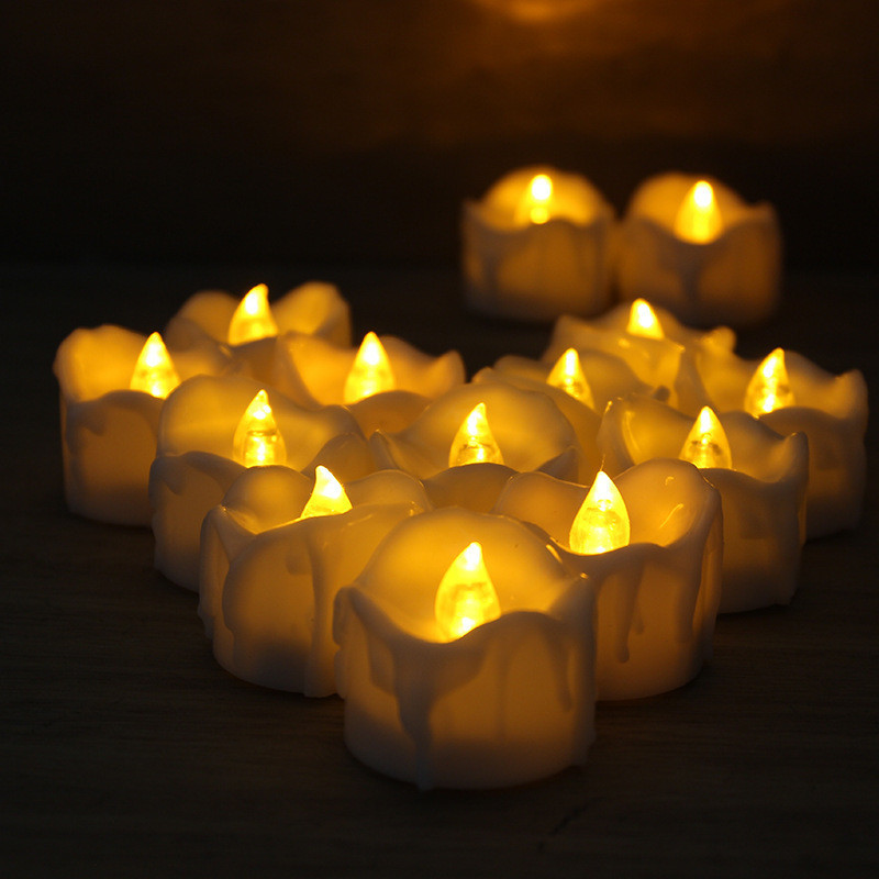 New arrival led Candle light Pack of 12 Remote control Led Tea Lights Battery Powered Tealights Fake Led Candle lamp