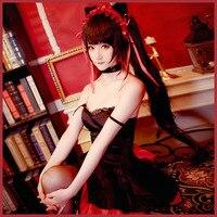 Anime DATE A LIVE Tokisaki Kurumi Black Cat Cosplay Costume Sexy Women Uniform Dress Halloween Carnival Party Suit