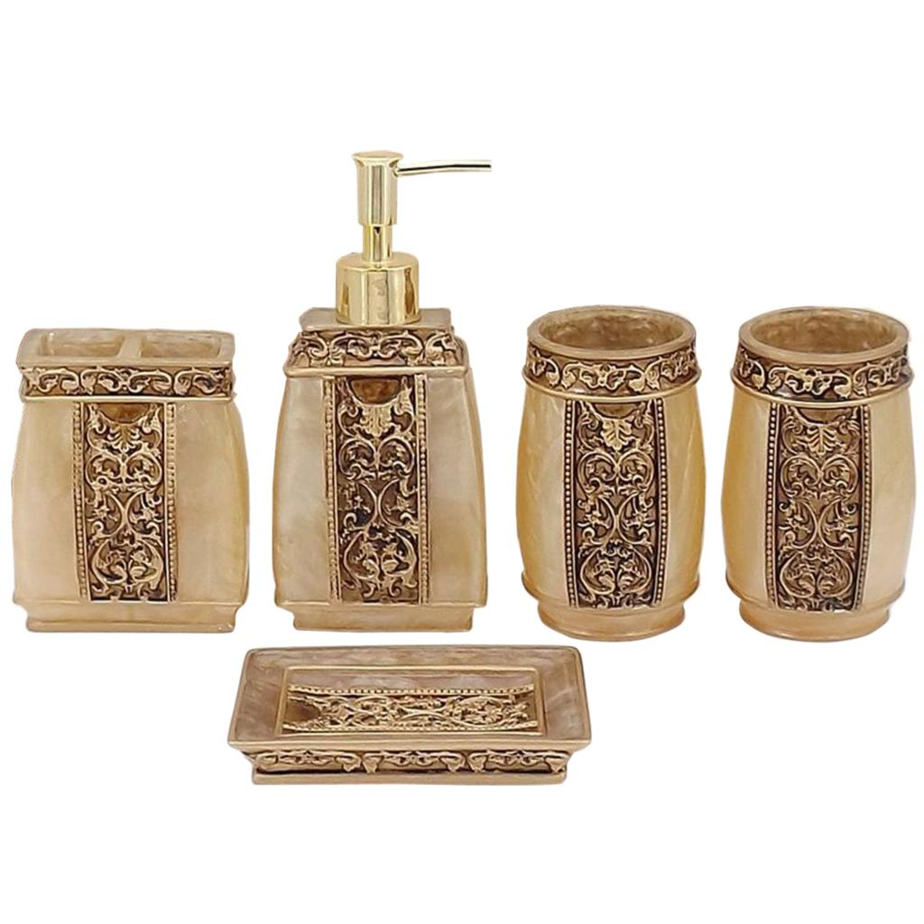 Buy 5pcs bathroom accessories european for Bathroom sets and accessories