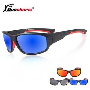 QUESHARK المستقطبة الصيد النظارات الشمسية TR90 خفيفة الوزن إطار التخييم المشي صياد Glassess Uv400 الرياضية الصيد نظارات