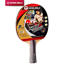 Winmax High Quality Professional 5 Stars Long Handle Table Tennis Racket / Bat PingPong Racket With A Case