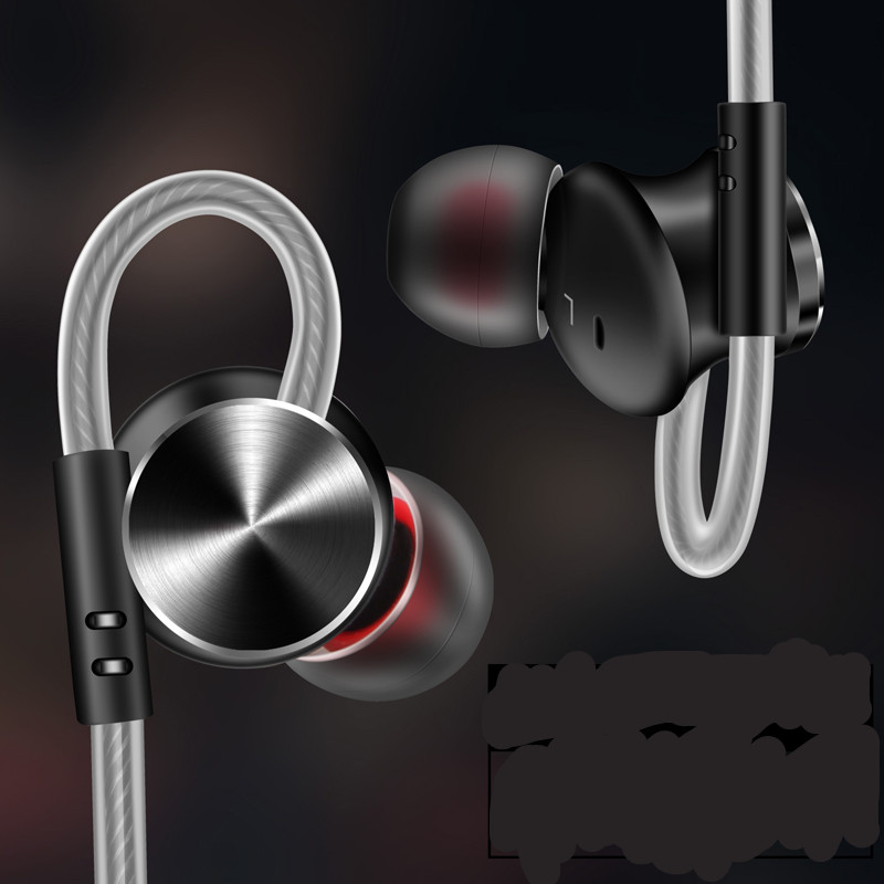 PTM W3 Headphone Metal Headset Sport Earbuds Bass Earphone With Microphone for