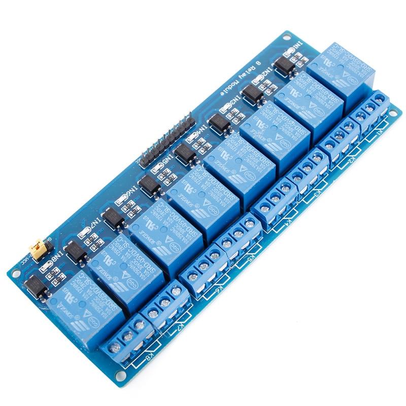 8 Channel 5V Relay Shield Module Board Optocoupler module for  ARM AVR L15 relay shield v2 0 5v 4 channel relay module