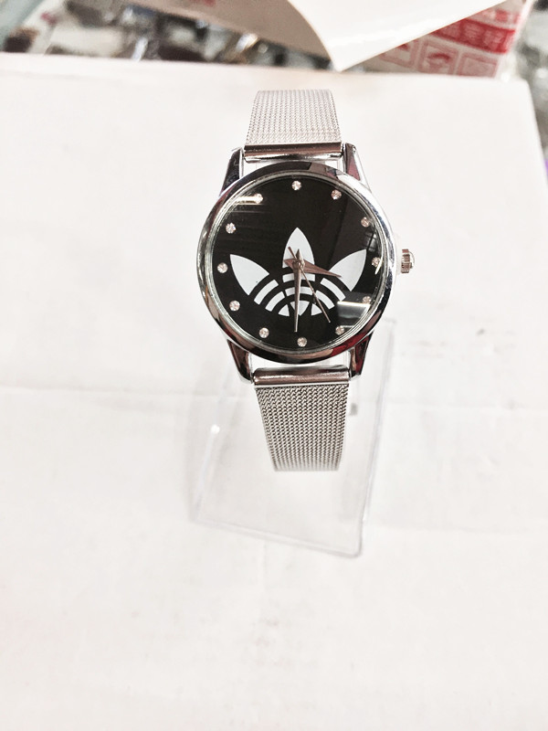 b6d864999a7 Marca de Luxo Forma para Mulheres Quartzo dos Homens do Esporte 2018 Nova  Senhoras Relógio de Vestido da Prata Cinto Malha Anúncio Relógios Feminino