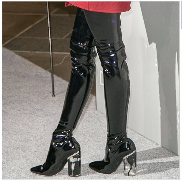Online Buy Wholesale latex thigh high boots from China latex thigh ...