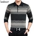 Nuevo hombre de las camisetas de tendencia de la moda de alta calidad que basa la manga larga camiseta de la marca de clothing turn-down collar casual de negocios t-shirt