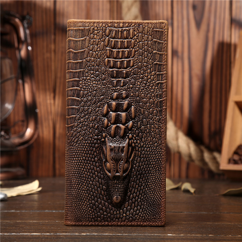 Genuine Leather Men Wallet Crazy Horse Leather Handmade Slim Coin Money Card Purse Zipper Male Long Pocket Poouch Handbag 1008 men wallet male cowhide genuine leather purse money clutch card holder coin short crazy horse photo fashion 2017 male wallets