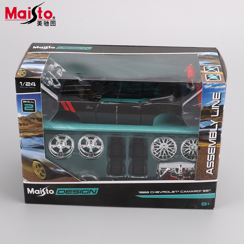 Maisto Ford 1965 Shelby Cobra 427 Classic car 1:24 Model Alloy Metal DIY Toy Vehicles Vintage car Collection Toys Kids Gifts maisto jeep wrangler rubicon fire engine 1 18 scale alloy model metal diecast car toys high quality collection kids toys gift