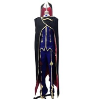 2019 Code Geass Cosplay Lelouch of the Rebellion Zero Cosplay Purple Mens Code Geass Cosplay Costume