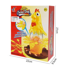 Funny Kids Chicken Drop Board Game Plunk the Feathers from the Chicken without Releasing the Eggs Interactive Toys for Children