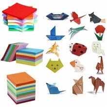 200/520 листов, 10 цветов, смешанная бумага для оригами, двухсторонняя цветная крафт-бумага, квадратная, разные, сделай сам, сложенная бумага, инструменты для рукоделия, разные размеры