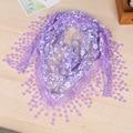 Spring Summer Hot Sale Ladies' Lace Scarf New Fashion Tassel Fringe Triangle Warp Stole Women's Elegant Floral Shawl Chal NS004