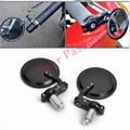"Universal Motorcycle Motorbike 3"" Round 7/8"" Handle Bar Mirrors Cafe Racer Bobber For Harley Honda Suzuki"