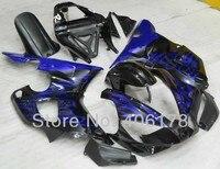 Лидер продаж, дешевые 2000 2001 YZF1000 R1 комплект для Yamaha 00 01 Yzf R1 гоночного велосипеда синий Обтекатели с языками пламени (литья под давлением)