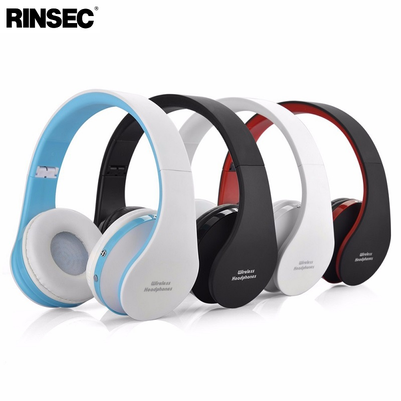 Rinsec NX-8252 Bluetooth Headphone Headband Wireless + Wired Headset Foldable with Stereo Music Earphone with Microphone original kz lp5 latest bluetooth earphone apt x wireless headphone wired bass headset portable headband foldable headphones