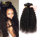 Xu Chang Febay Deep Curly Hair Weave Bubdles 4Pcs Kinky Curly Virgin Hair Weave 100% Grade 6A Unprocessed Virgin Peruvian Hair