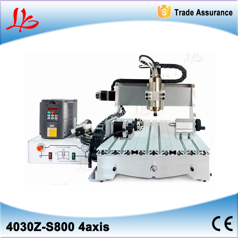 Mini 4 aixs 3040 CNC Router Engraver Ball Screw Cutting Milling Drilling Engraving Machine Mimi CNC 800W mini engraving machine diy cnc 3040 3axis wood router pcb drilling and milling machine