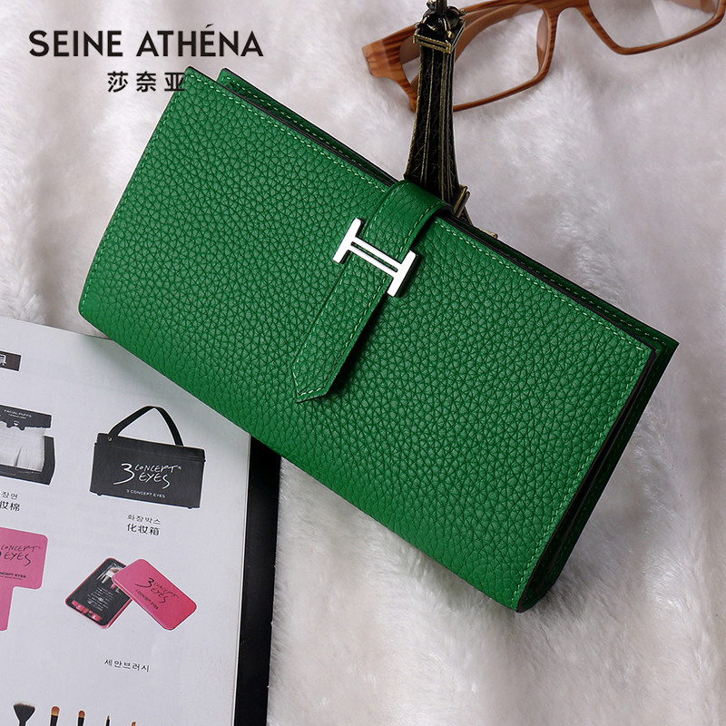 Luxury Brand Wallet Women Genuine Leather Long Clutch Ladies Purse Card Holder Fashion Wallet Girls Coin Purse Carteira Feminina 100% women genuine leather wallet oil wax cowhide purse woman vintage lady clutch coin purses card holder carteira feminina
